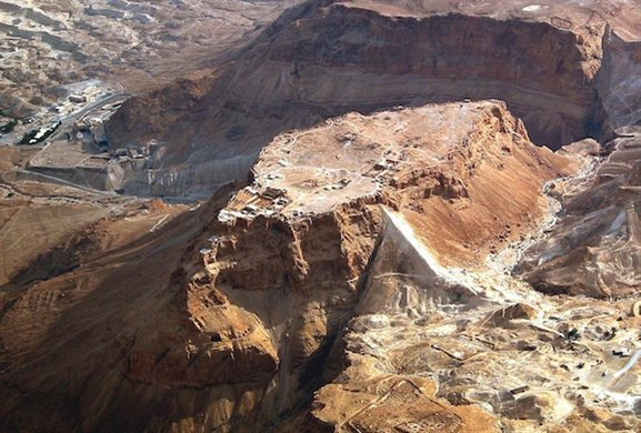 asada aerial from northwest tb010703306 Masada— A Place of Sanctuary, Suicide, and Inspiration