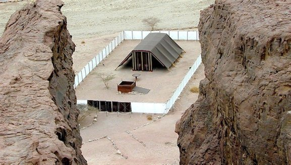 abernacle model from above bwb032300501 Timna Park—A Portrait of Your Atonement on Yom Kippur